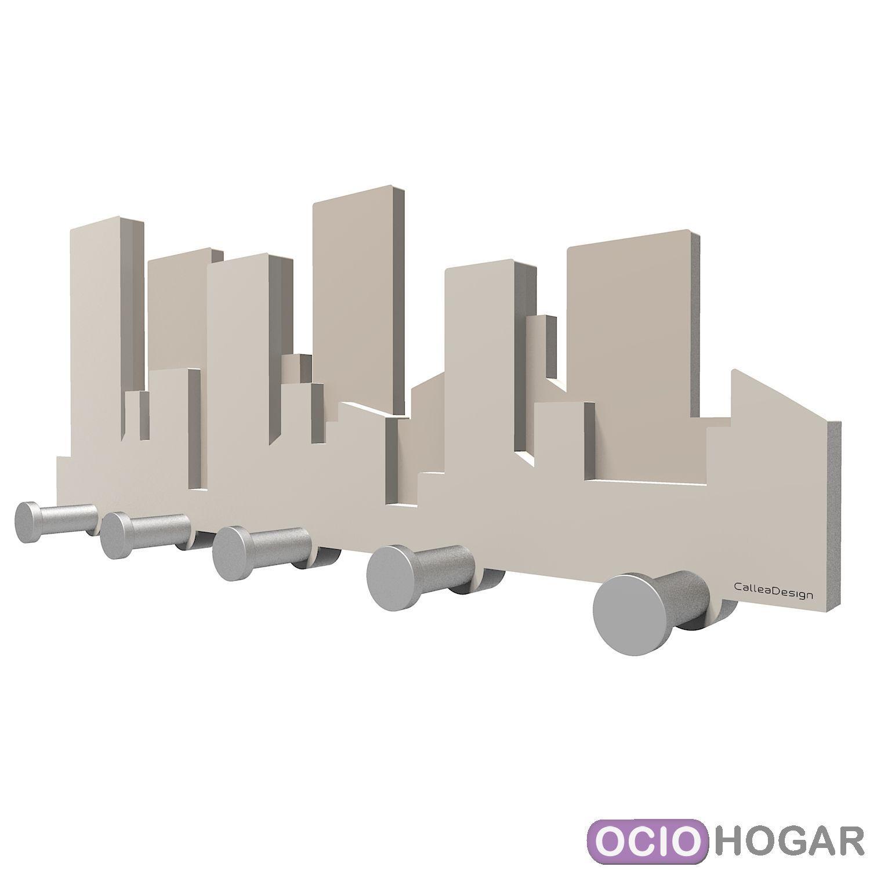 Perchero skyline un horizonte con rascacielos - Appendiabiti design a muro ...