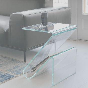Zeta, un revistero en vidrio transparente