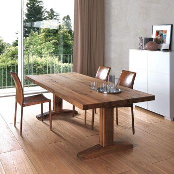 Mesas de comedor cristal madera extensibles for Mesa comedor estilo nordico