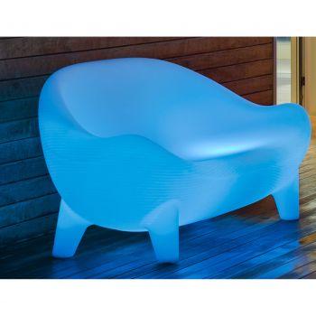Jamaica, sofá estilo chillout para exterior en plástico