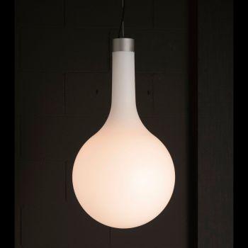 Nanit, lámpara exterior de suspensión en aluminio y polietileno translúcido