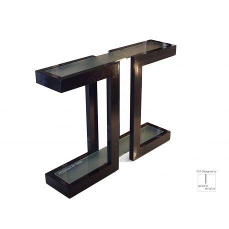 Consola LISA 110x80x25 cm Negro metalizado de Gonzalo de Salas