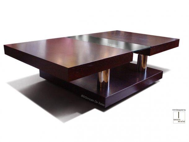 Mesa de Centro Berenice de Gonzalo de Salas. Medida 120x70x36 cm. Acabado wengué