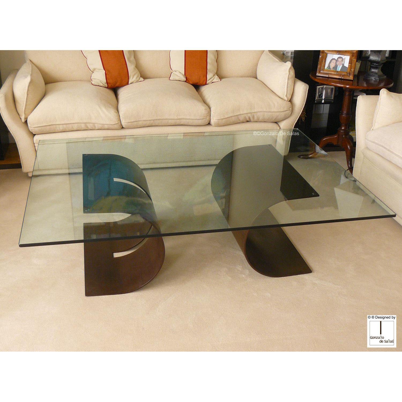 Mesa de centro art stica carlovi l nea mobiliario - Mesa de centro grande ...
