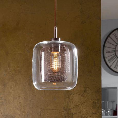 Lámpara Fox 1L, cristal y metal nunca hicieron tan buena pareja