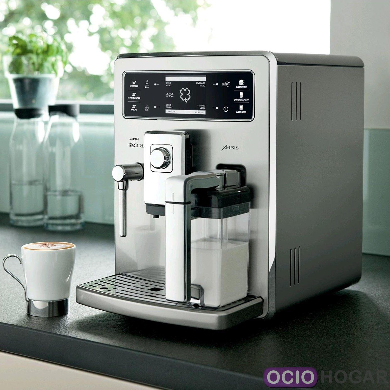 cafetera saeco espresso de acero inoxidable xelsis. Black Bedroom Furniture Sets. Home Design Ideas