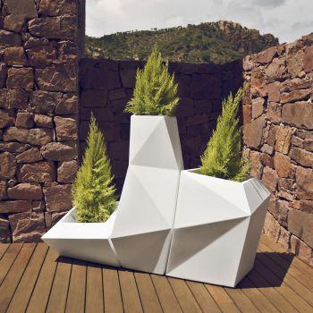Maceteros de diseño Faz de Vondom en acabado blanco