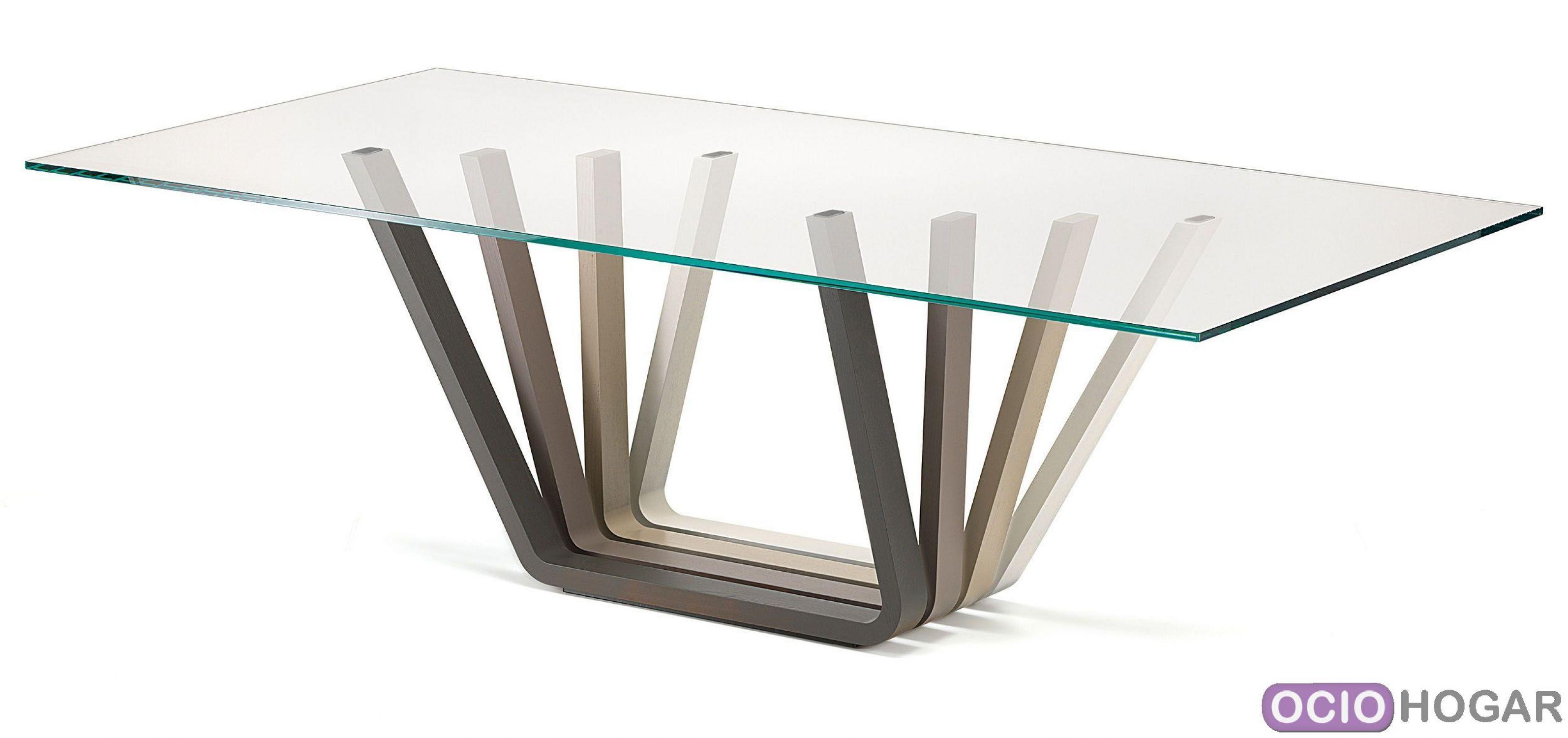 Mesa de comedor Domino de Cattelan Italia - Diseño en OcioHogar.com
