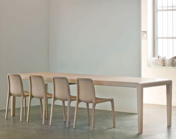 Mesa extensible Exteso de Pedrali en roble blanqueado