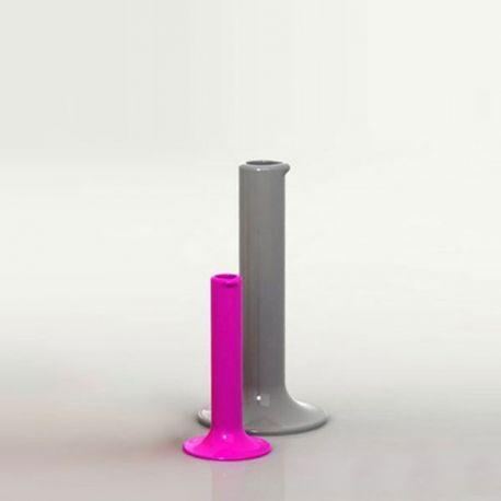Florero Chemistubes Pipe VONDOM en Pink pequeño y Acero grande