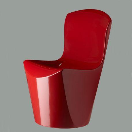 Silla Zoe SLIDE Design en lacado rojo