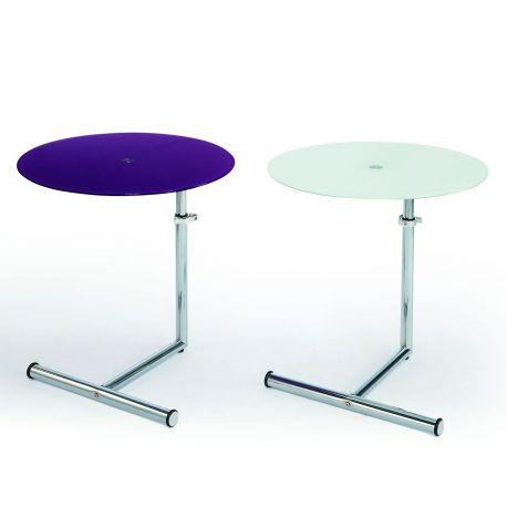 Mesa auxiliar Lunch Dissery violeta y blanco