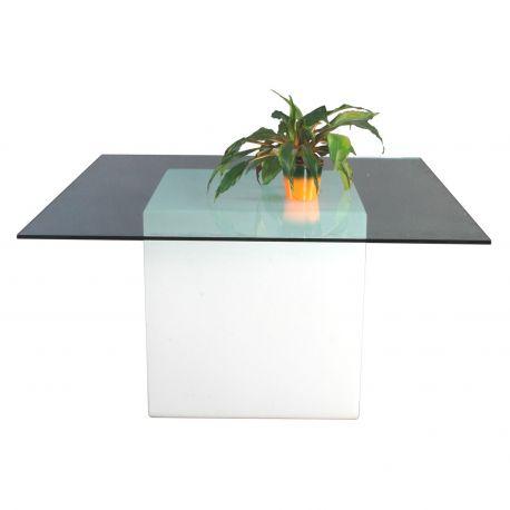 Mesa de jardín con luz Square Slide Design