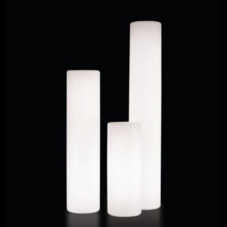 Lámpara cilindro exterior Fluo Slide Design