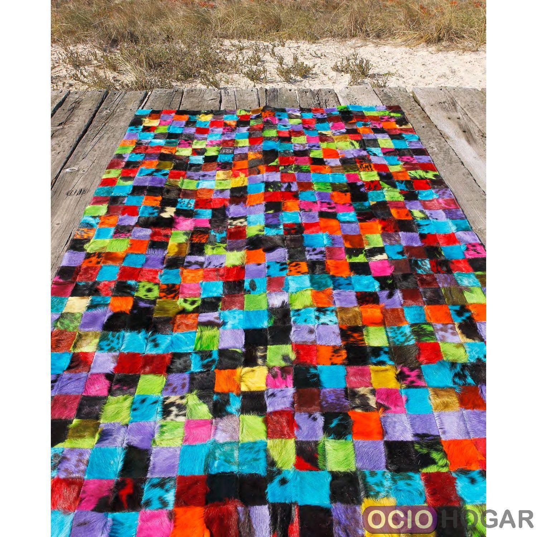 Alfombra moderna de piel nick carving - Outlet alfombras ...