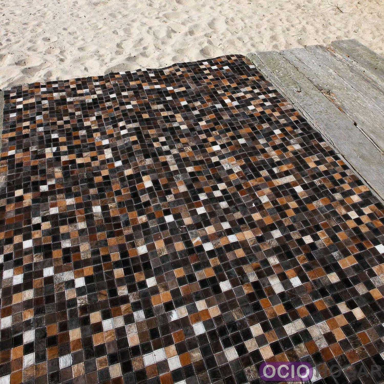 Alfombra moderna piel quadra multi carving for Outlet alfombras modernas