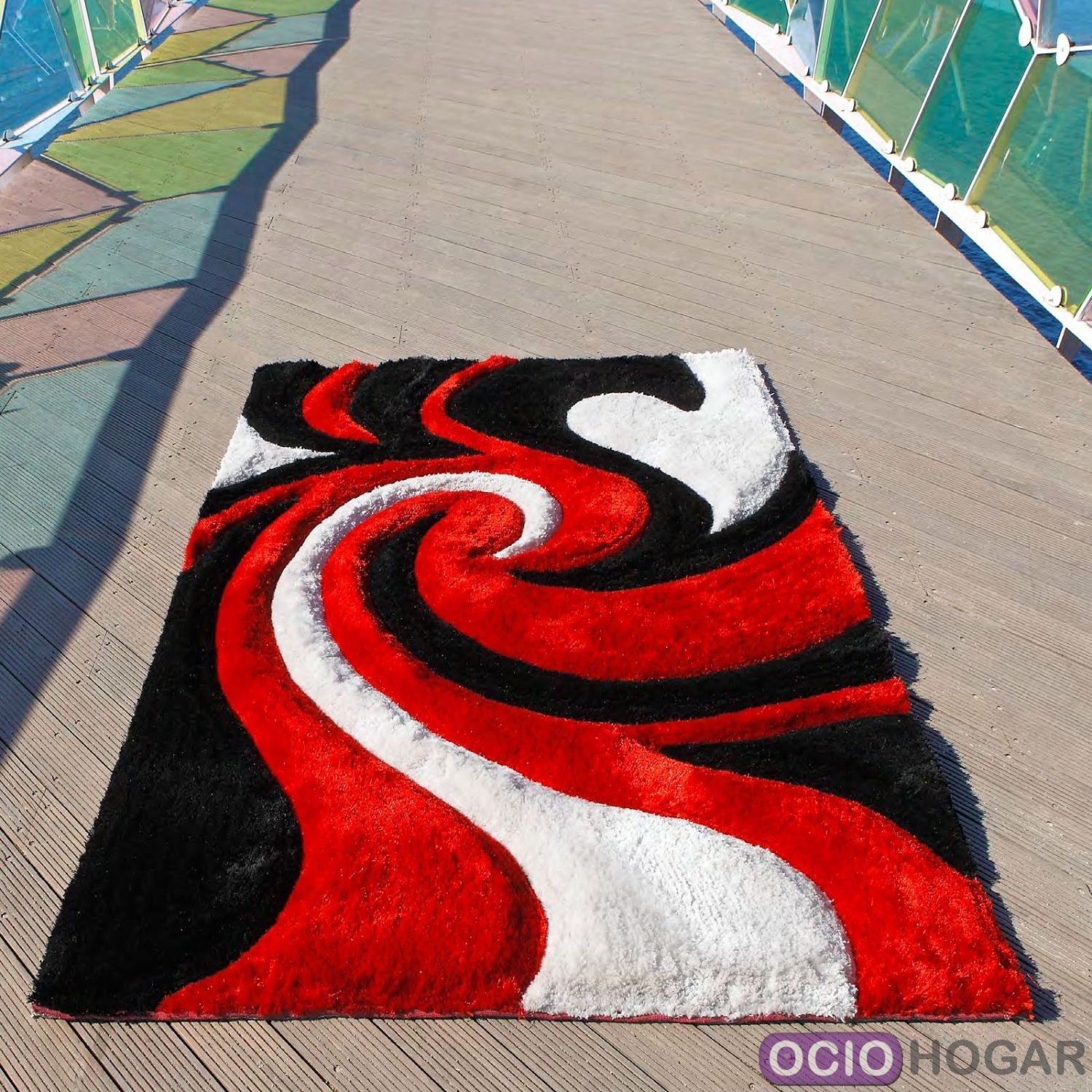 Alfombra moderna hell carving for Alfombras grandes modernas