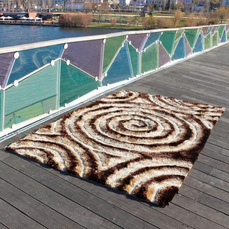 Alfombra moderna Spiral 3D Carving