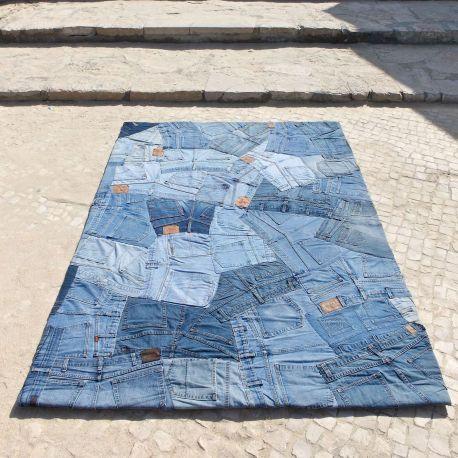 Alfombra moderna Jeans Back Carving