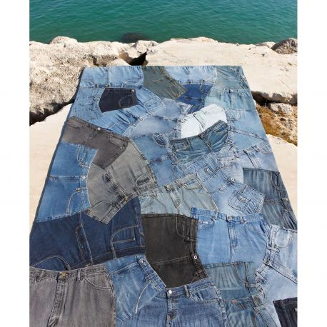 Alfombra moderna Jeans Front Carving