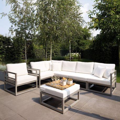 Conjunto sofá y mesa de jardín aluminio Francia Majestic Garden