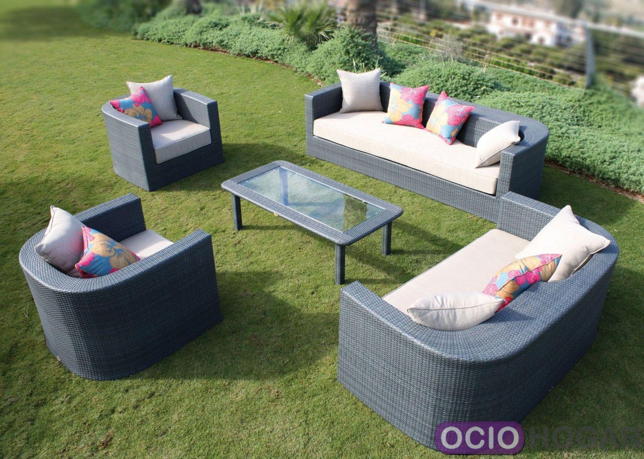Conjunto exterior sof s sillones y mesa venus majestic for Conjunto sillones exterior