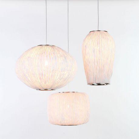 Lámpara de techo Coral CO04-3 de Arturo Álvarez. Blanco