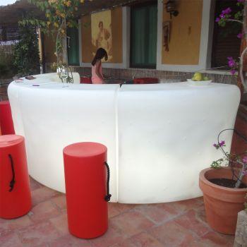 Barra de bar con luz Ibiza