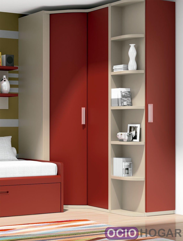 Dormitorio juvenil cabernet dissery muebles juveniles for Dormitorios juveniles con armario esquinero