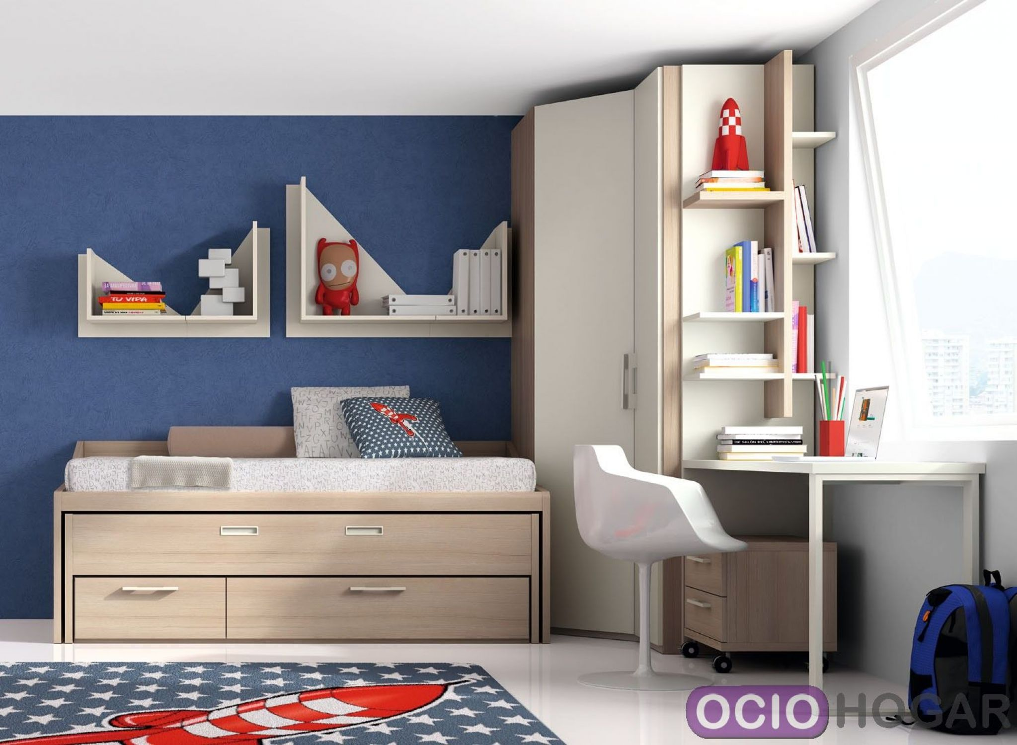 Dormitorio juvenil monza de dissery muebles infantiles for Camas infantiles diseno moderno