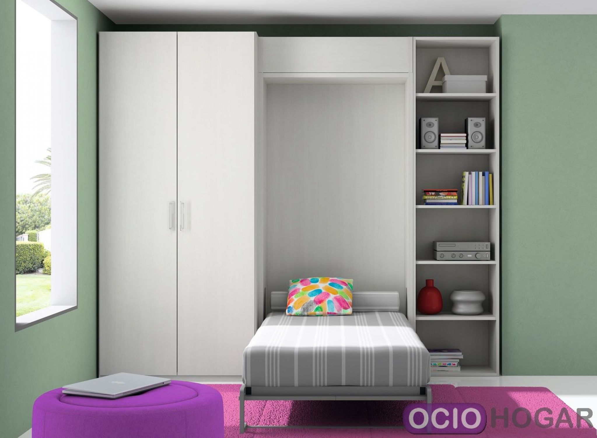Dormitorio infantil closet de dissery muebles juveniles for Muebles infantiles modernos