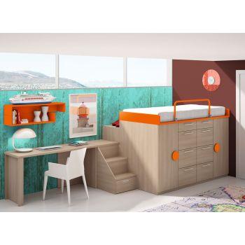 Dormitorio infantil Coral
