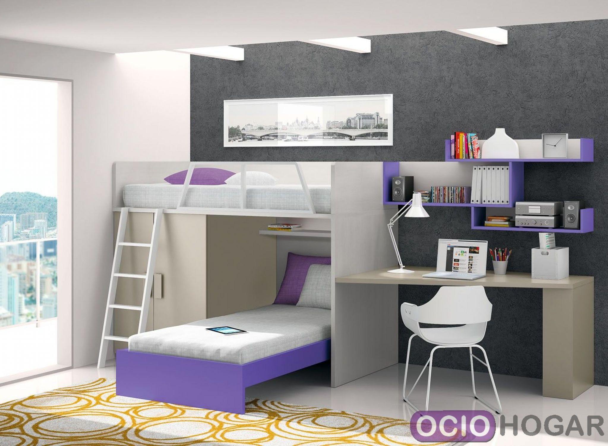 Dormitorio juvenil violet de dissery muebles infantiles for Muebles infantiles juveniles