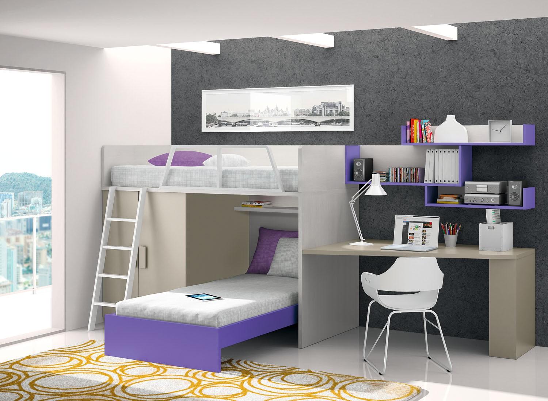 Dormitorio juvenil para dos dormitorios juveniles - Dormitorios juveniles de dos camas separadas ...