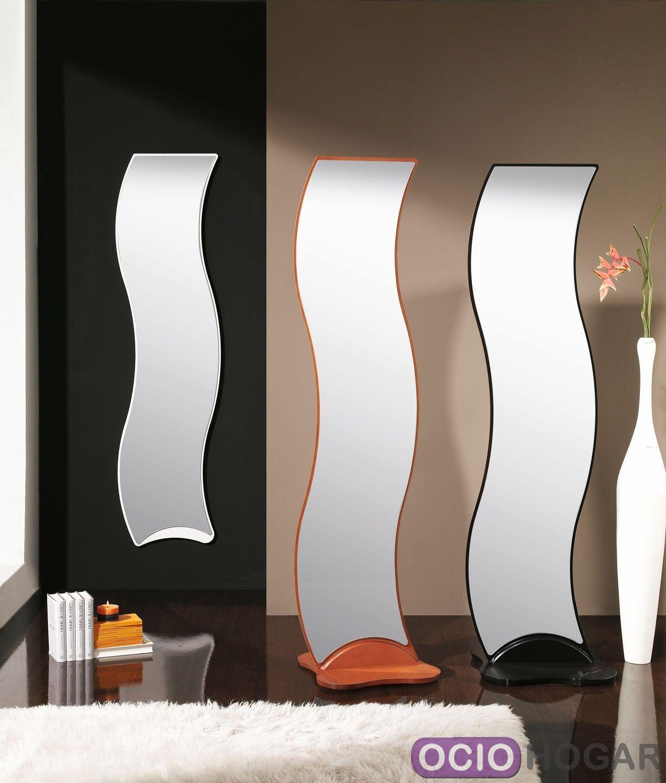 Espejo de dise o ondas de dissery complementos en for Espejos grandes para dormitorios