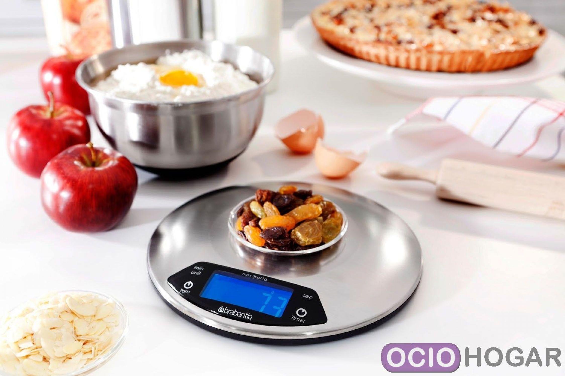 B scula de cocina digital matt steel de brabantia - Basculas de cocina digitales ...